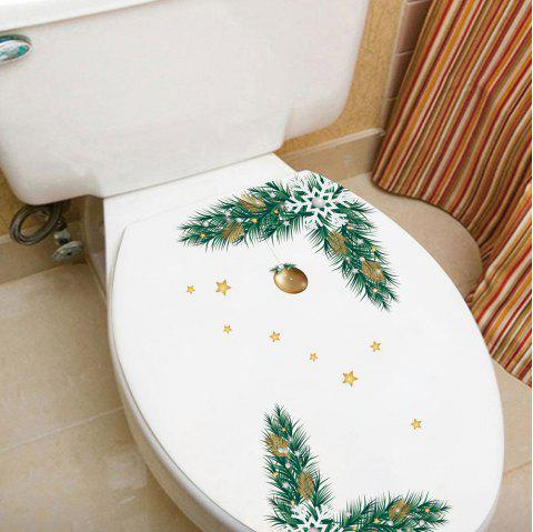Christmas New Bells Toilet Refrigerator Personalized Wall Sticker - multicolor A