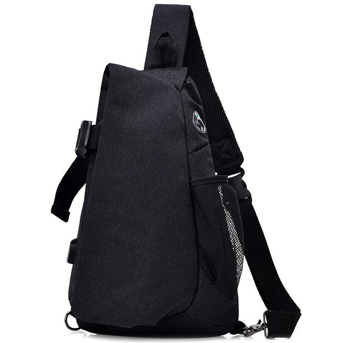 High-capacity Outdoor Leisure Chest Bag For Man - BLACK