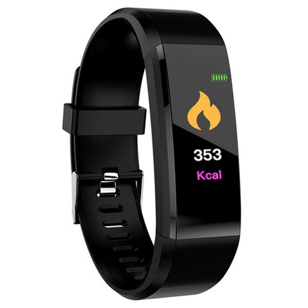 ID115 Plus Smart Bracelet 0.96 inch Screen Bluetooth 4.0 Call / Message Reminder Heart Rate Monitor Functions - BLACK