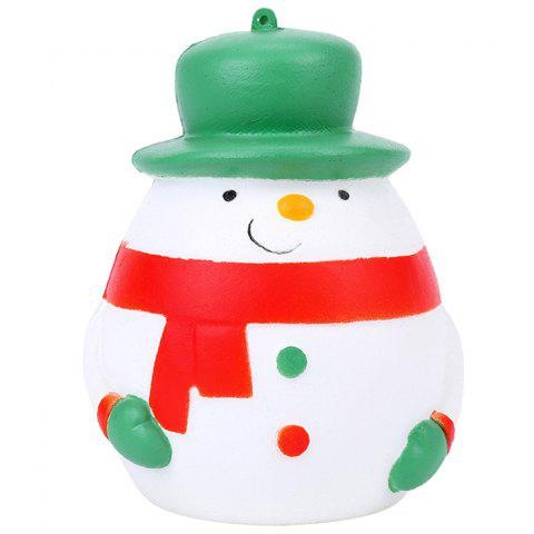 Antistress Squishy Toy Chrismas Snowman Model - WHITE
