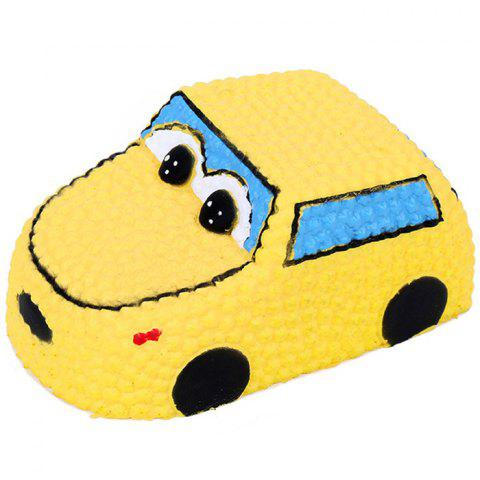 Squishy PU Slow Rising Stretchy Squeeze Jaune Voiture Jouet