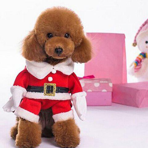 Fashionable Pet Clothes for Christmas Decoration - RED M