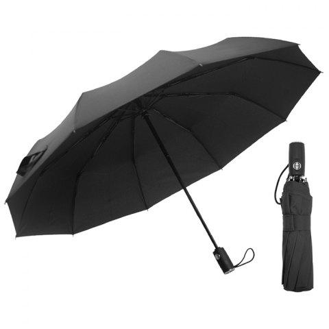 Automatic Tri-folded Windproof with 10 Branches Sunny / Rainy Commercial Umbrella - NIGHT