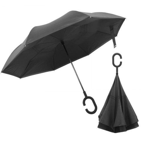 Type C Car Creative Reverse Umbrella for Rainy Day - NATURAL BLACK
