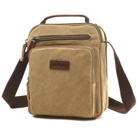 d2bb1306c16b ZUOLUNDUO 8844 Solid Color Fashion Canvas Backpack Casual Shoulder Bag -  LIGHT KHAKI