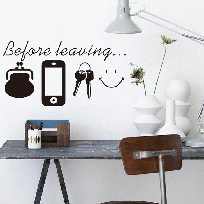 Before Leaving Phone Key Pattern Wall Sticker for Home Decoration 298856502
