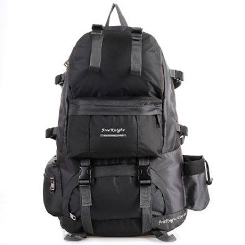 WEIKANI Waterproof Wear-resistant Nylon Backpack for Outdoor Sports - DARK GRAY