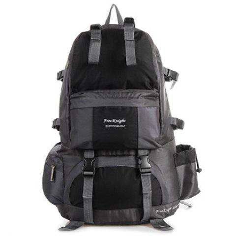WEIKANI Waterproof Wear-resistant Nylon Backpack for Outdoor Sports - BLACK