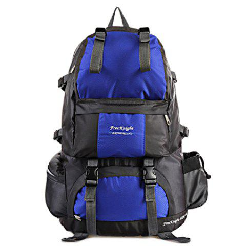 WEIKANI Waterproof Wear-resistant Nylon Backpack for Outdoor Sports - DEEP BLUE