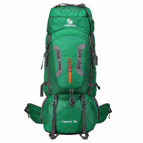 f5468f48ac82 WEIKANI 80L Unisex Waterproof Nylon Backpack for Outdoor Sports - SEA GREEN