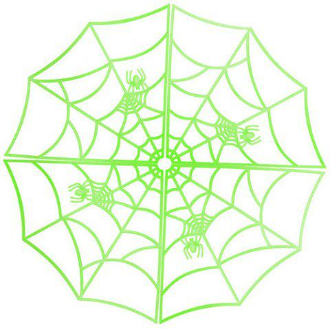 Halloween Luminous Spider Web - GREEN