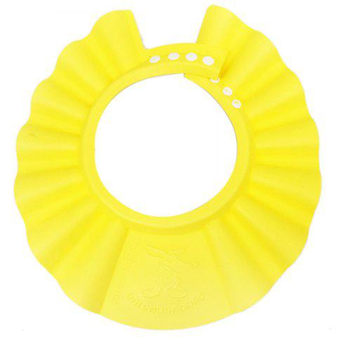 Adjustable Protective Shield Baby Shower Bathing Shampooing Cap - YELLOW