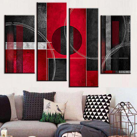 2019 Red Abstract Painting In Multicolor 2pcs X 10 X 162pcs X 10 X