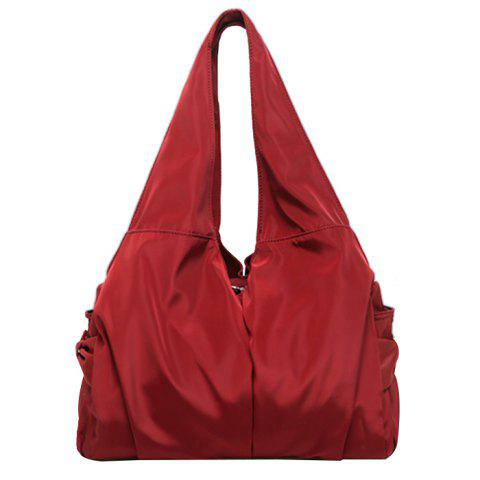 WEIKANI Woman's Diagonal Outdoor Sports Shoulder Bag - RED WINE