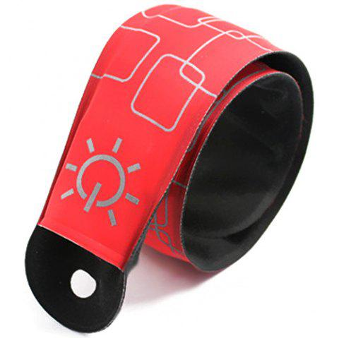 LED Light Flash Wrist Band Reflective Luminous Bracelet - RED