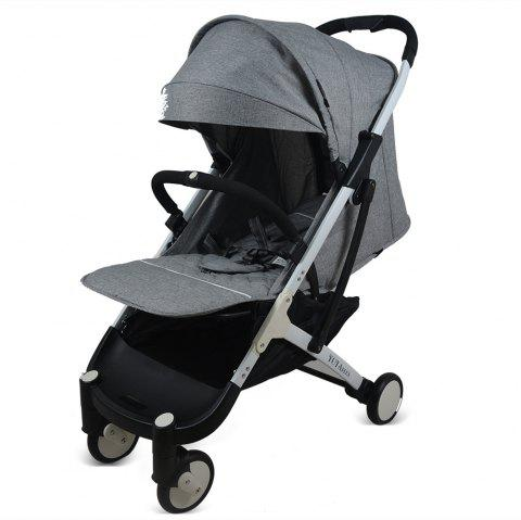 YOYAplus A09 Foldable Baby Stroller for 0 - 36 Month Kid - GRAY CLOUD
