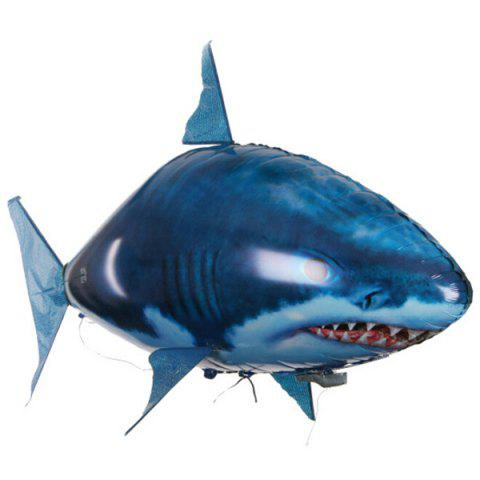 Remote Control Inflatable Shark Toy Ball - COBALT BLUE