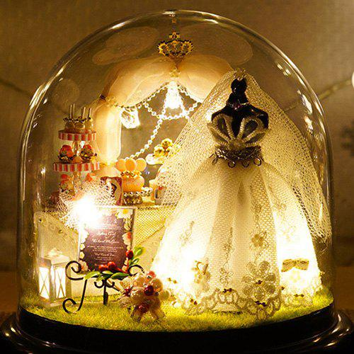 Love Forever DIY Doll House Miniature Suit Gift with Light - WHITE