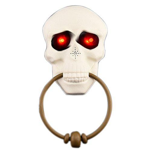 Halloween Horror Doorbell Ghost Festival Skull Haunted House Party Prop - WHITE