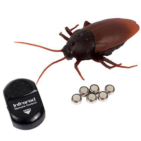Q5011 Infrared Remote Control Cockroach Toy Electric Tricky Props - DEEP COFFEE