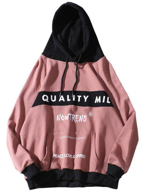Chaolongjushang GH - NT9228 Men's Hoodie Simple and Printing - PINK 2XL