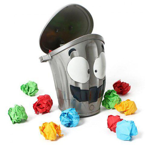 Crazy Running Trash Can Puzzle Shooting Parent-child Game - SILVER