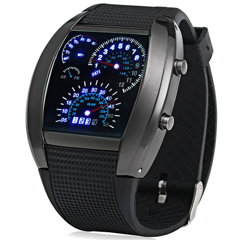 Fashion Highlight LED Display for Racing Watch - BLACK