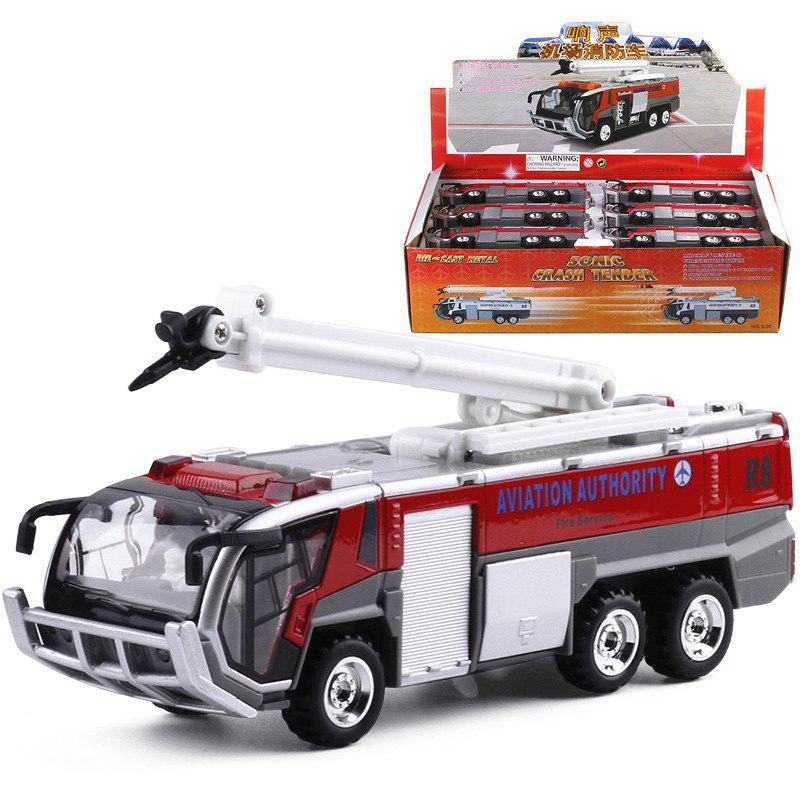 Educational Fire Truck Model Toy for Kids - multicolor A