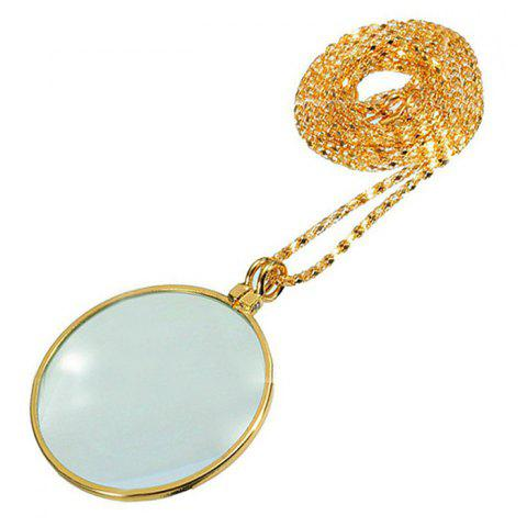 Magnifying Glass Necklace for Old Men - GOLD