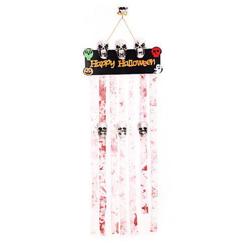 WSJGJ Curtain Decoration for Halloween - multicolor WHITE + DULL-RED