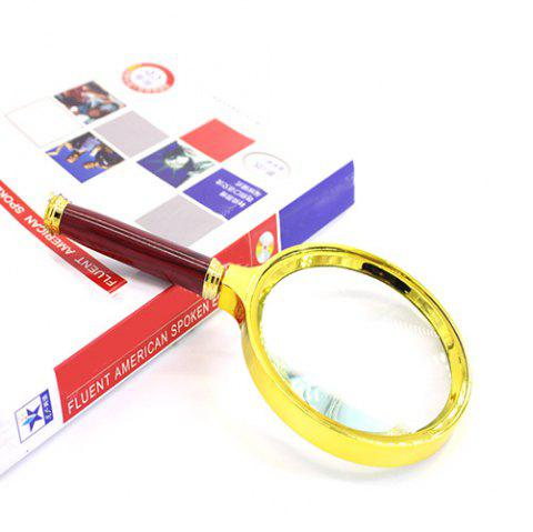 Gift Auxiliary Reading Magnifier for Old Man - GOLD