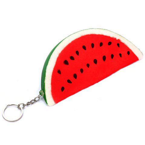 Smiling Watermelon Squishy PU Toys for Reducing Pressure - RED