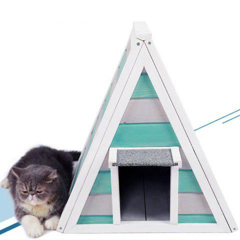 Nordic Style Solid Wood Cat Nest - multicolor A ONE SIZE