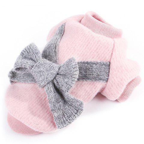 Flannel Fabric Bowknot  Dog Clothes - PINK L