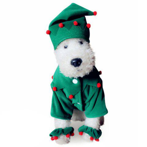 Santa Costume Pet Clothing for Dogs - multicolor A XL