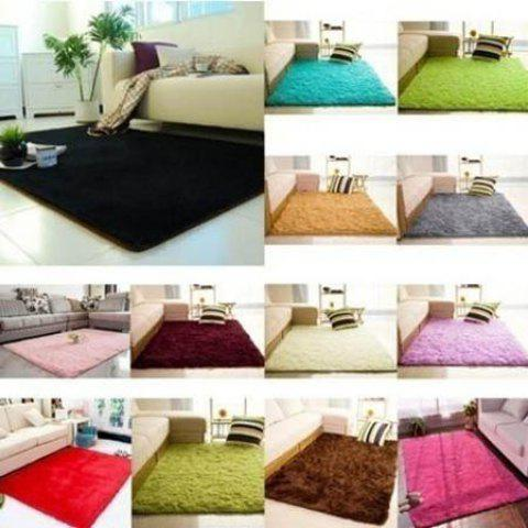 Modern Washable Suede Carpet - ROSE RED 40 X 60 CM