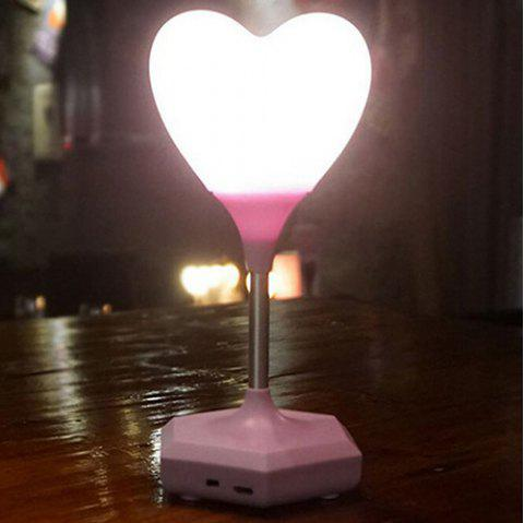 Creative USB Charging Heat-shape Night Light Emotion Atmosphere Lamp - LIGHT PINK