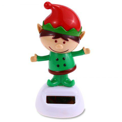 ABS Plastic Cartoon Unique Style Deer Man Toy Decoration for Ornament - YELLOW GREEN