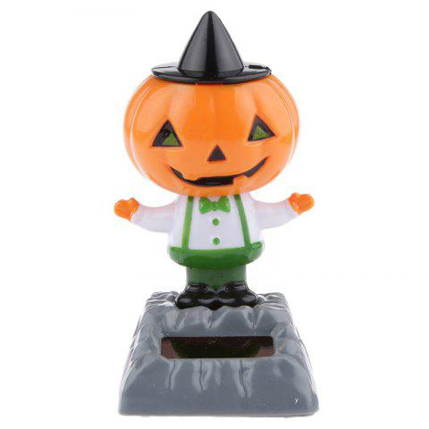ABS Plastic Solar Energy Squash Toy Decoration for Ornament - HALLOWEEN ORANGE