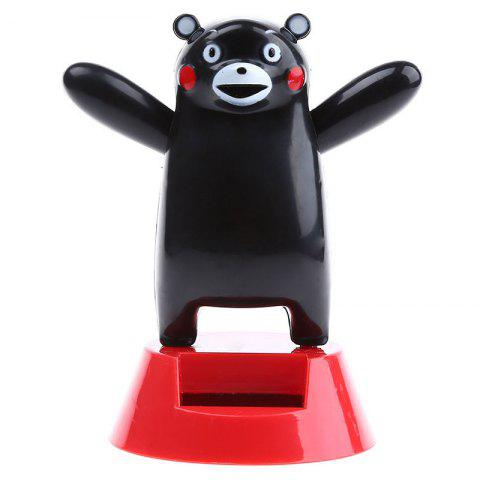 Vehicle-mounted ABS Plastic Black Bear Toy Decoration for Ornament - BLACK
