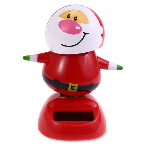ABS Plastic Automatically Swing Smiling Face Doll Toy Decoration for Ornament - LAVA RED