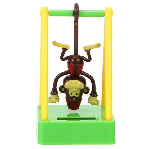 Cartoon Cute Style Monkey Toy Decoration for Ornament - YELLOW GREEN