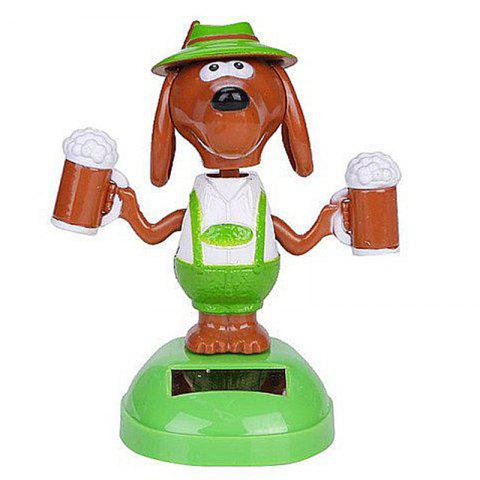 Vehicle-mounted ABS Plastic Brew Dog Toy Decoration for Ornament - YELLOW GREEN