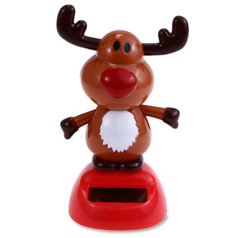 ABS Plastic Cute Style Automatically Swing Ox Toy Decoration for Ornament - BROWN