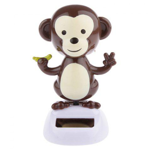 ABS Plastic Vehicle-mounted Sunflower Monkey Toy Ornament for Decoration - DEEP BROWN