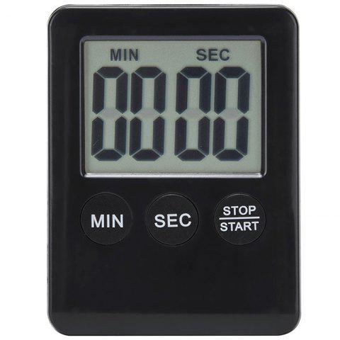 Super Thin LCD Digital Screen Kitchen Timer for Timing - BLACK