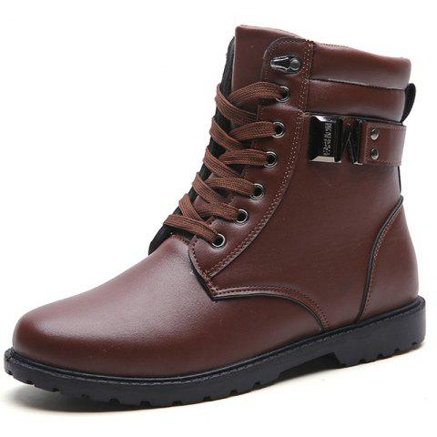 G1005 Men's Boots Simple and Stylish - LIGHT BROWN EU 44