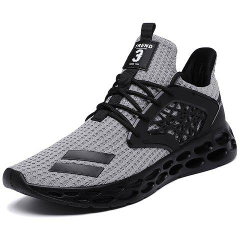Men Sneakers Stylish Breathable Lightweight - GRAY EU 45