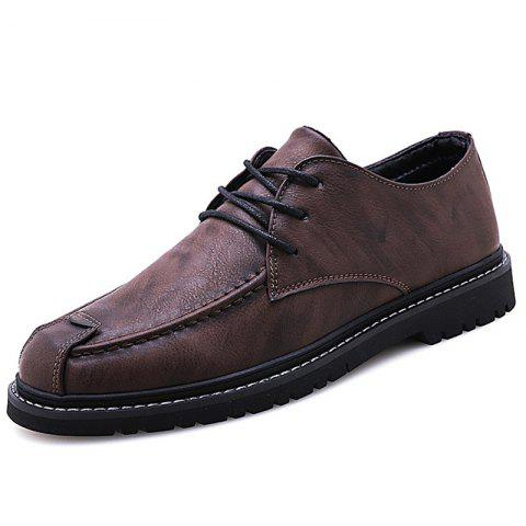 G1005 Men's Oxford Shoes Trendy and Personality - RED WINE EU 44