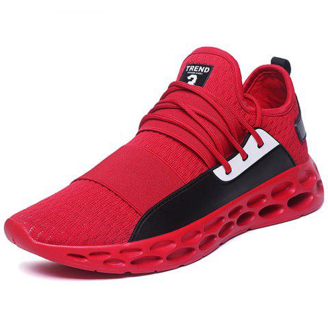 Men Sneakers Breathable Lightweight Fashion - RED EU 42